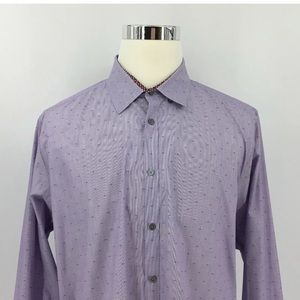 Ted Baker Tops - Ted Baker London Pattern Button Up Shirt Size 17,5